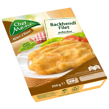 Chef Menü Backhendl Filet gebacken, 250g